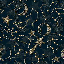 Seamless Pattern. Signs Of The...