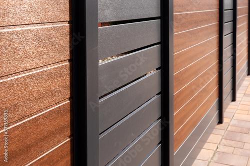 Fényképezés New varicoloured and stylish high plastic fence