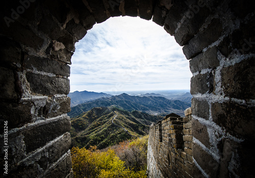 Fotografie, Obraz The Endless Great Wall of China Five