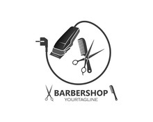 Clippers Icin Vector  For Barber Business Illustration