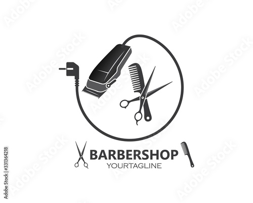 Cuadros en Lienzo clippers icin vector  for barber business illustration
