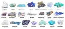 Set Of Various Blue Unpolished...