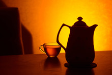 Teapot And Teacup Silhouette I...