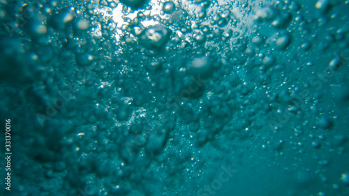 Photo air Bubbles Underwater, Natural Under Water scene