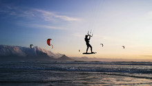 Kite Surf Table Mountain Landscape Cape Town, South Africa
