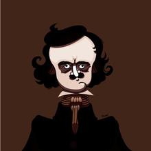 Caricature Edgar Allan Poe