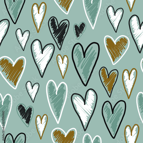 hand-drawn-vector-cute-seamless-pattern-illustration-heart-with-grunge-brush-stroke-for-textile
