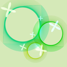 Created Green Spirograph Abstract Background