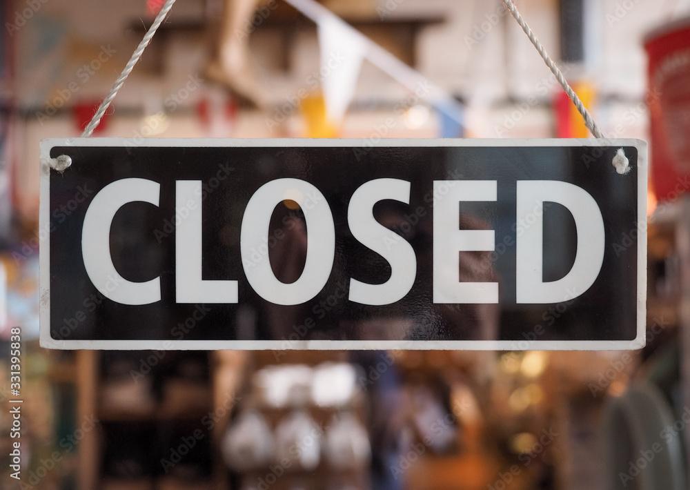 Fototapeta Closed sign on a shop window