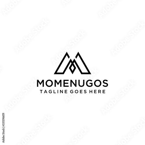 Photo Creative Illustration modern M sign geometric logo design template