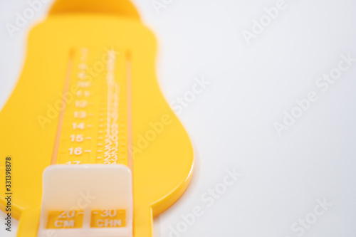 Photo Foot Measurement on white background