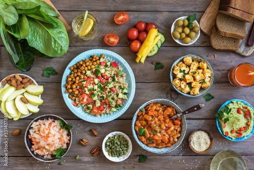 Fototapeta Vegan dinner table obraz