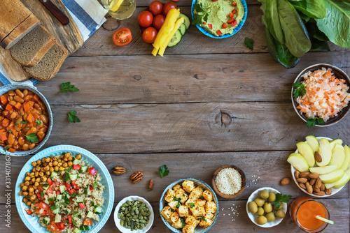 Obraz Vegan dinner dishes - fototapety do salonu