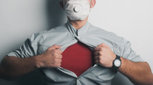 Superhero In A Medical Mask, A...