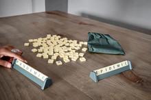 Black Woman Playing Scrabble W...