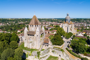 Aerial view of Provins