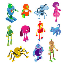 Robots Collection On Vector Ro...