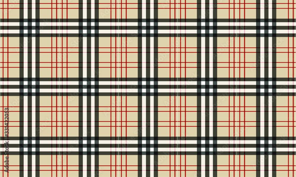 Fototapeta Burberry style Tartan Pattern