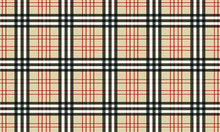 Burberry Style Tartan Pattern - Background - Vector - Textile