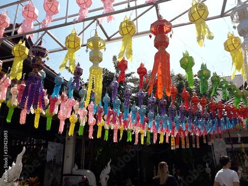 Fotografiet Loy Kratong Thailande Chiang Mai
