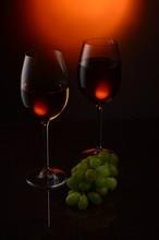Glass Of Wine Studio Shooting