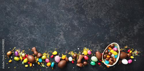 Fotomural Chocolate Easter eggs