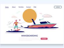 Wakeboarding Vector Website La...