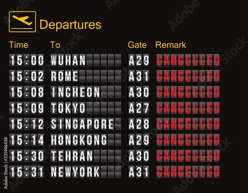Fotografía flight cancellation