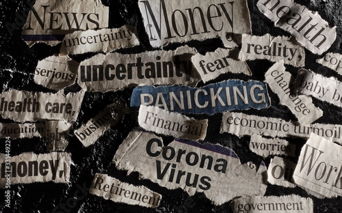 Fototapeta Corona Virus news headlines obraz