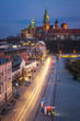 View of the Cathedral and adoining buildings within the Wawel Royal Castle complex on Wawel Hill in Krakow, Poland