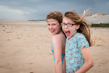 Two Fun-loving Excited Girls O...