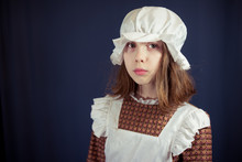 Sad Girl In Victorian Maid Out...
