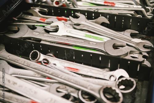 Sammlung von Schraubenschlüsseln Canvas Print