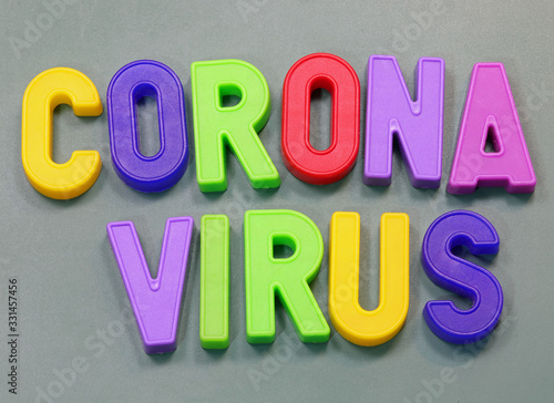 Plastic Magnetic letteres with text Corona Virus Tablou Canvas