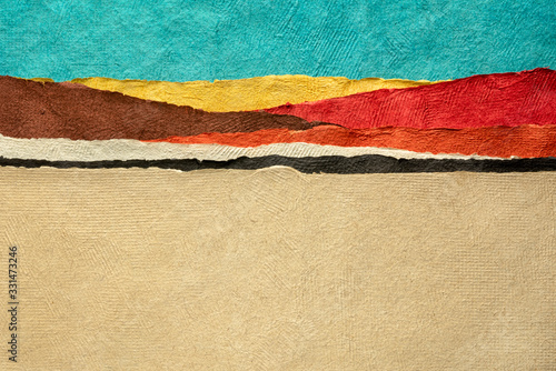 abstract paper desert landscape Canvas Print