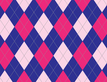 Navy Blue And Hot Pink Argyle ...