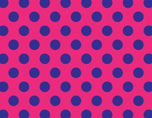 Navy Blue And Hot Pink Polka Dot Background