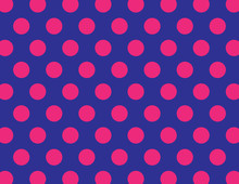 Navy Blue And Hot Pink Polka D...
