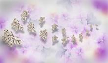 3d Wallpaper  Purple Flower Swan Butterfly Jewelry  Background