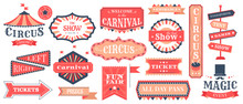 Circus Event Labels. Carnival ...