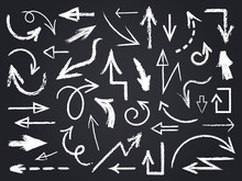 Chalk Sketch Arrow. Hand Drawn...