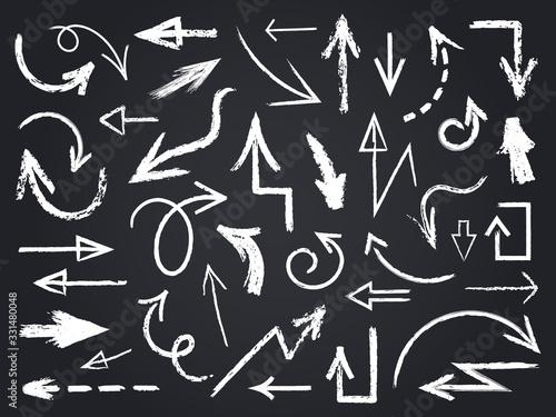Foto Chalk sketch arrow