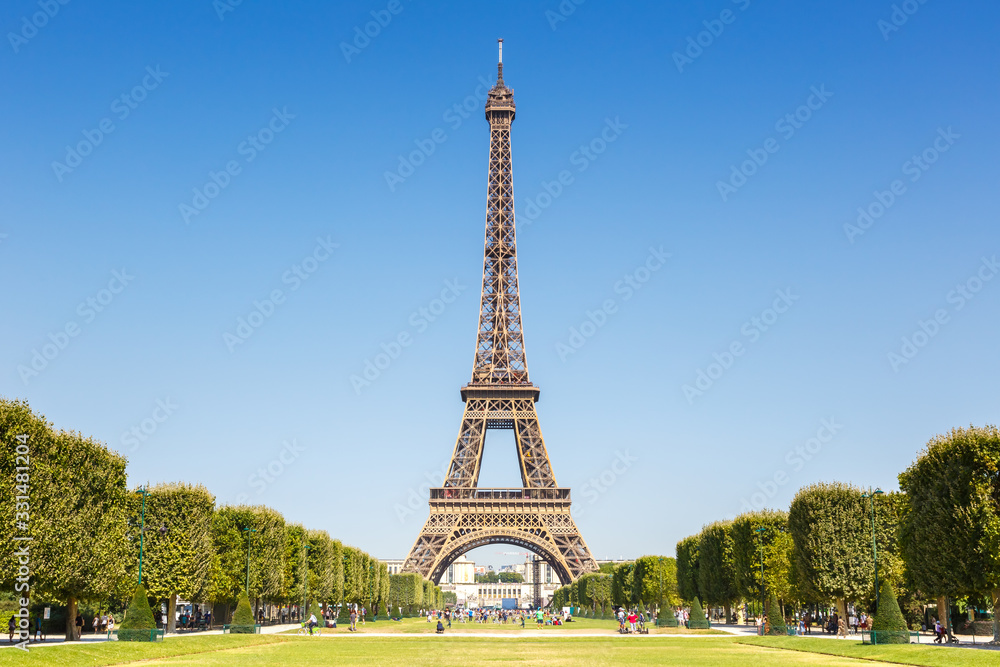 Fototapeta Eiffel tower Paris France travel traveling sight landmark