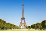 Fototapeta Wieża Eiffla - Eiffel tower Paris France travel traveling sight landmark