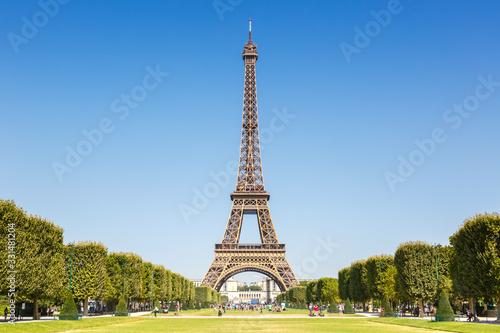 Obraz Eiffel tower Paris France travel traveling sight landmark - fototapety do salonu