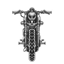 Classic Motorcycle Front View Concept
