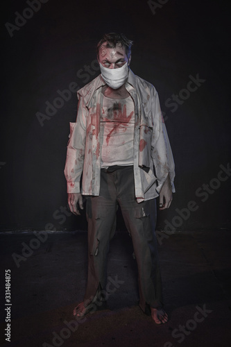 Photo Zombie wearing medical mask