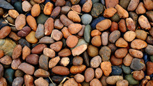 Background Of Brown Stones. Pe...