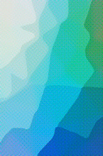 Abstract Illustration Of Blue, Green Dots Background