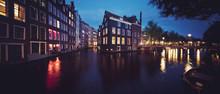 Panoramic View Of Amsterdam Ca...